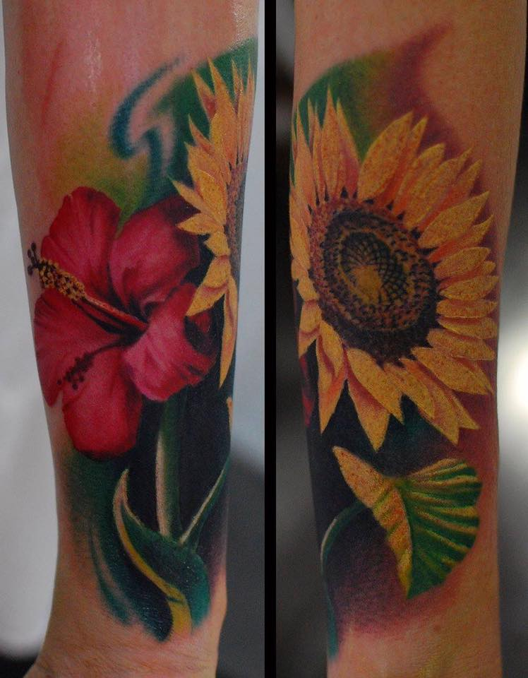 blumen sunflower tattoo tattoos münchen minga munich anansi best beste bestes shop store