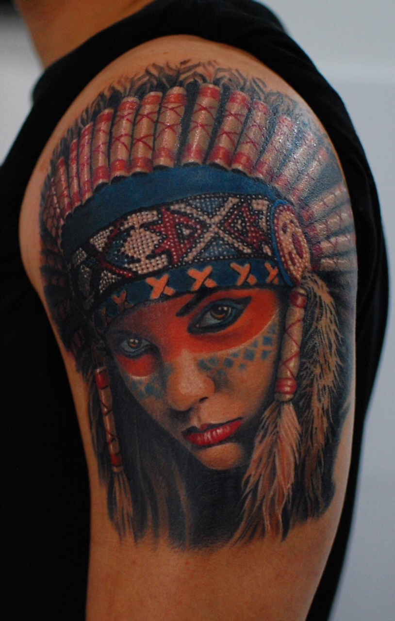 indian indians tattoo color fantastisch fantastic münchen munich shop top best bester beste bestes tätowierer