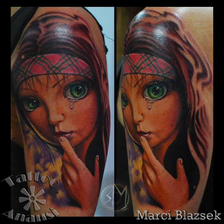 child portrait woman munich münchen minga shop tattoo store laden tätowierer