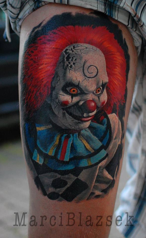 clown scary tattoo color tattoo anansi münchen minga munich shop store best bestes top