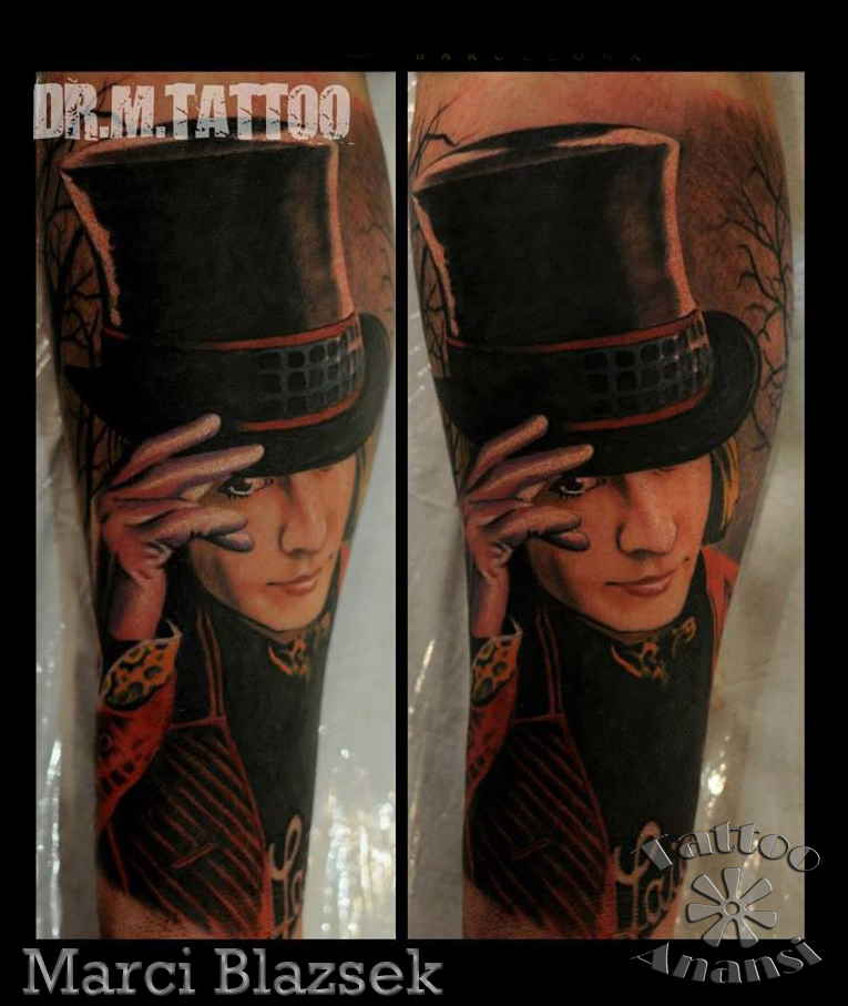 johnny depp portrait tattoo marci tattoo anansi münchen shop top bestes bester tempel