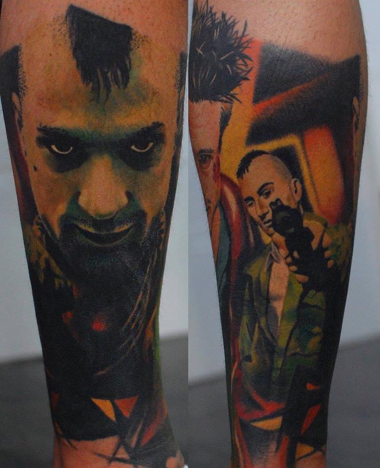 Robert de Niro Tattoo Color Farbe München Munich Tattoo Anansi top schön Artist Künstler best bester
