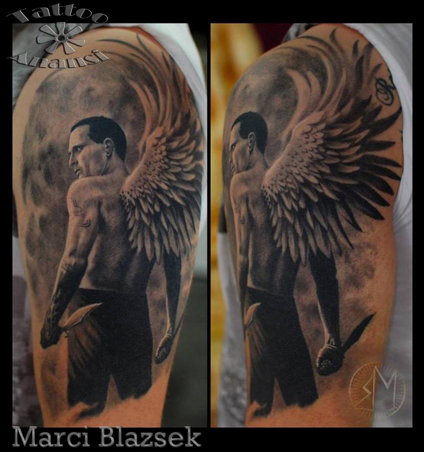 engel angel szarnyasember marci top tattoo artist künstler münchen minga munich best bestes