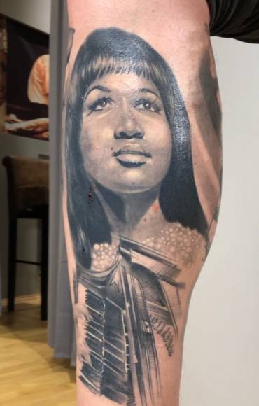 Aretha Franklin DJANGO REINHARDT  MUSIC THEME TATTOOS
