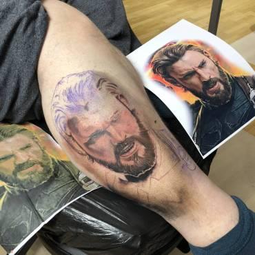 Captain America Ritchey´s Avengers Projekt in Progress –   Portraits in Color