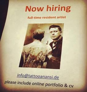 tattoo studio anansi jobs münchen best bester Augsburg Rosenheim Nürnberg Salzburg