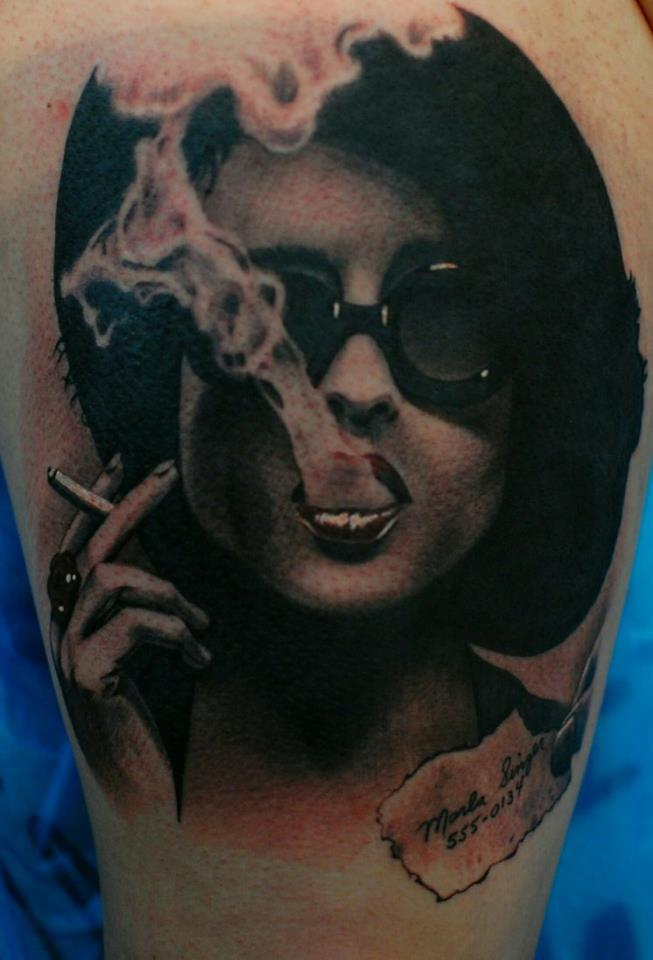 smoking woman girl amazing tattoo anansi münchen munich minga best bestes bester