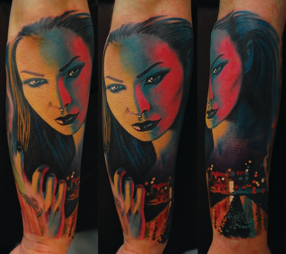 woman amazing tattoo realistic realistisch schön mega münchen minga  shop laden store