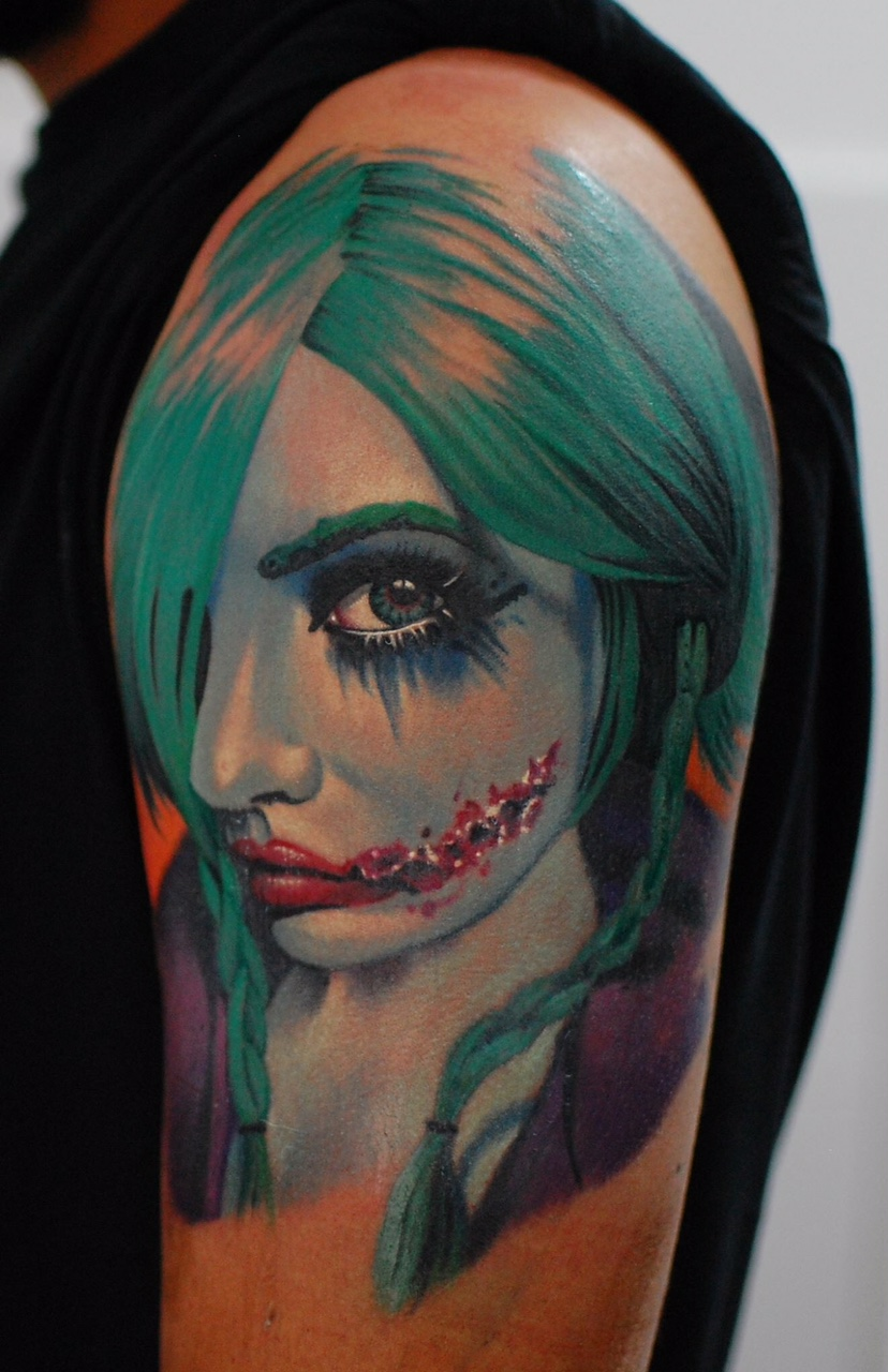 horror tattoo amazing color work münchen minga munich tattoo anansi artist tätowierer best beste bestes bester  - top