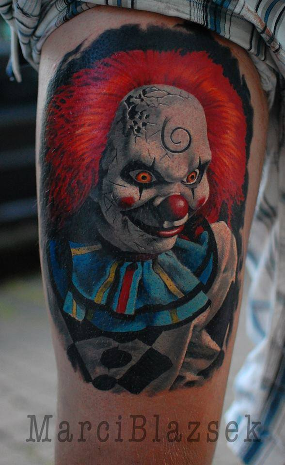 clown scary tattoo color tattoo anansi münchen minga munich shop store best bestes top
