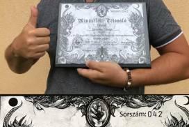 Qualifizierter Tätowierer – Zertifikat über die Anerkennung als professioneller Tätowierer für unsere Kollegen