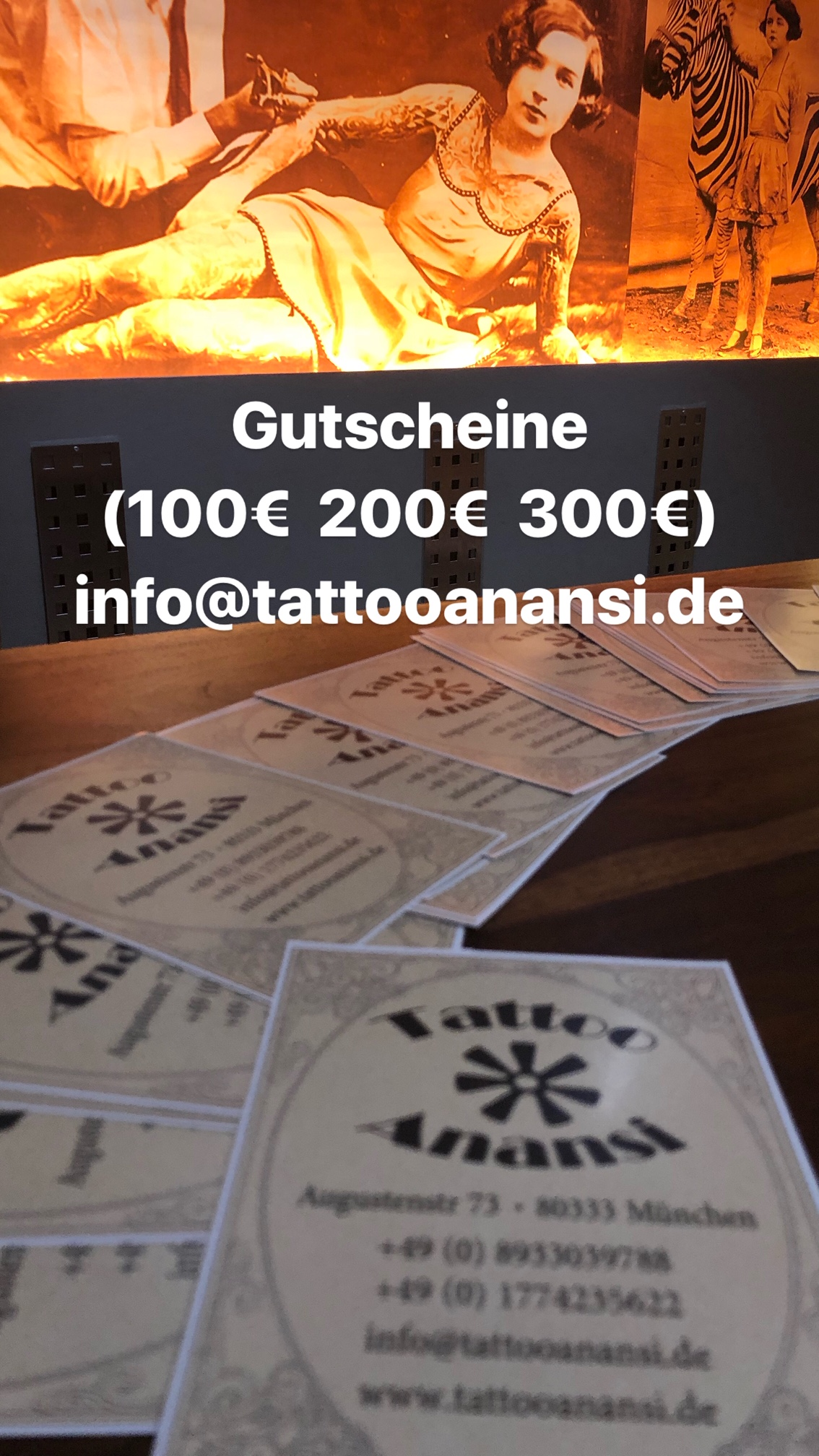 Gutscheine €100 €200 €300 stressfrei via Email bestellen