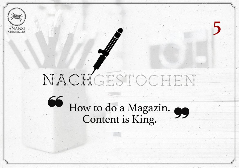 How to do a Magazine? Ein bißchen Rückblick.