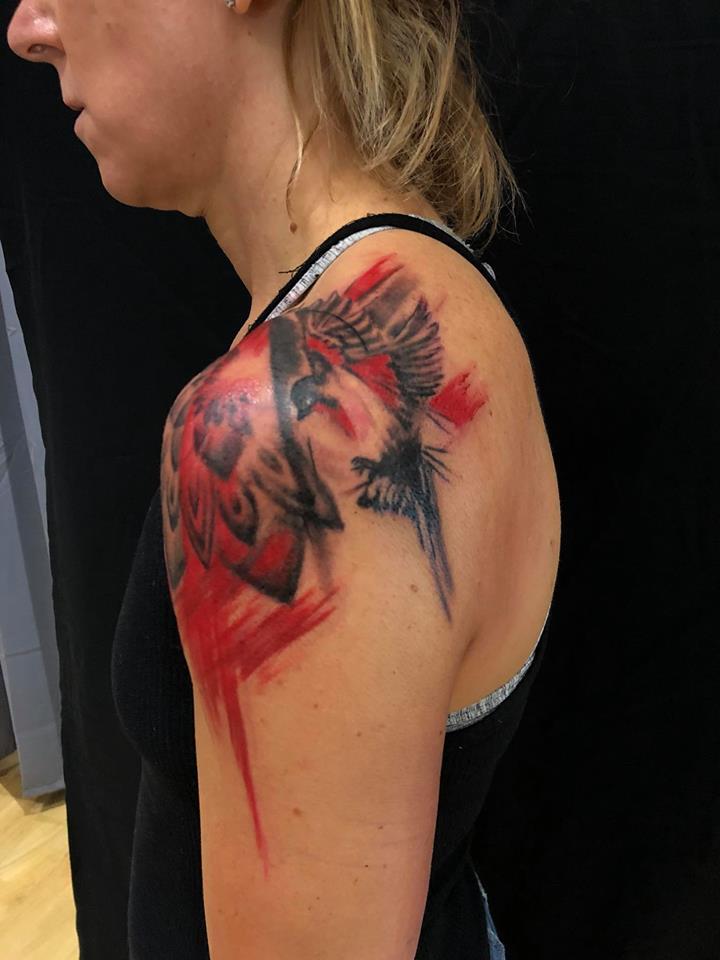 tattoo studio münchen anansi geometrisch geometic laszlo würfel
