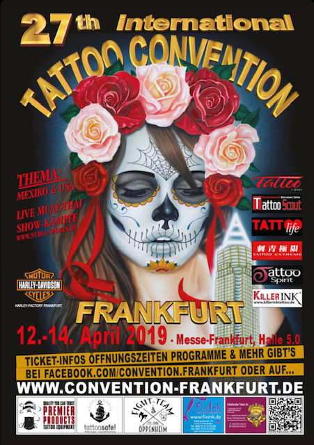Tattoo Anansi at 27th international Frankfurt Tattoo Convention 2019