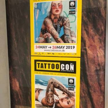 TattooCon Dortmund 24-26 Mai  2019   – wir sind dabei – Booking Open for David