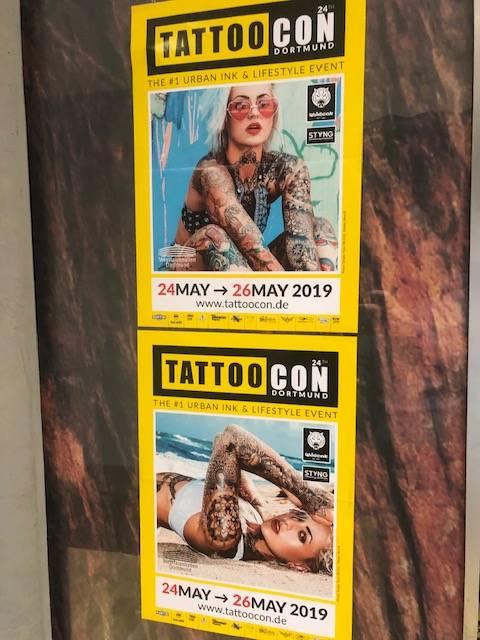 TattooCon Dortmund 24-26 Mai  2019   – wir sind dabei – Booking Open for David