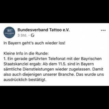 Öffnen – Nicht öffnen? – Münchner Tattoo Szene(?) und Platzhirsche – Bundesverband Tattoo e.V   Staatskanzlei Telefonat
