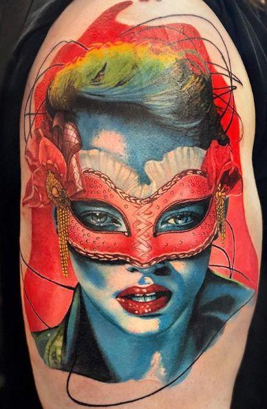 Tattoo Studio Anansi München Otto best bestes color realismus portrait gesicht face