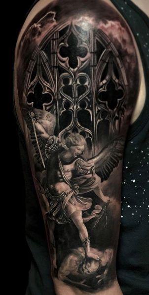 Tattoo Studio Anansi München Otto best bestes realismus black and grey engel angel