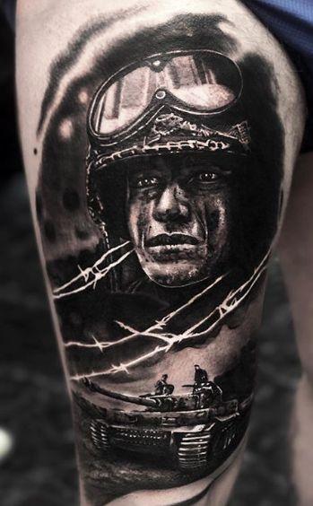 Tattoo Studio Anansi München Otto best bestes realismus portrait soldier soldat
