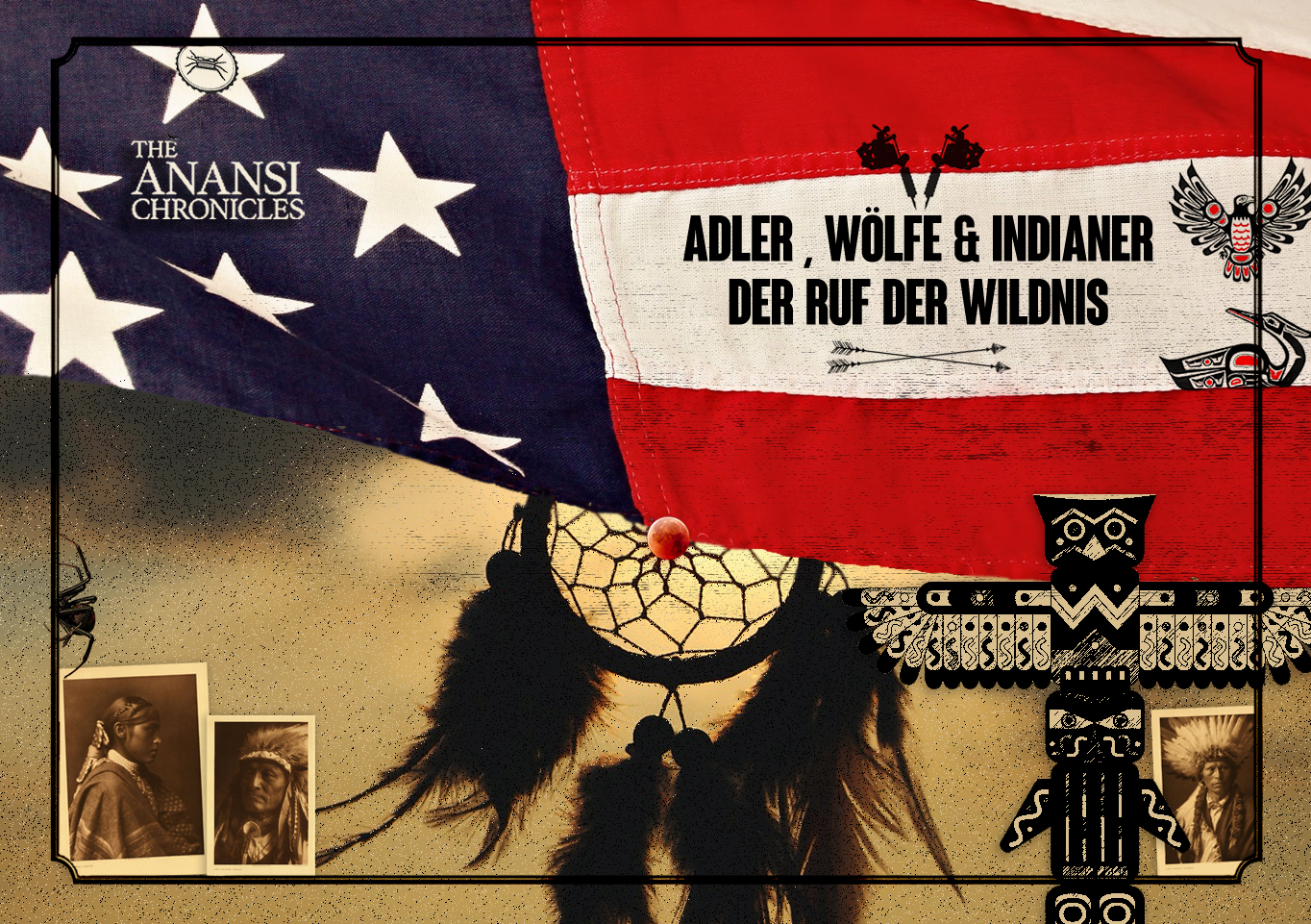 Ruf der Wildnis: Indianer-Tattoos von Adlern, Wölfen und Pfeilen