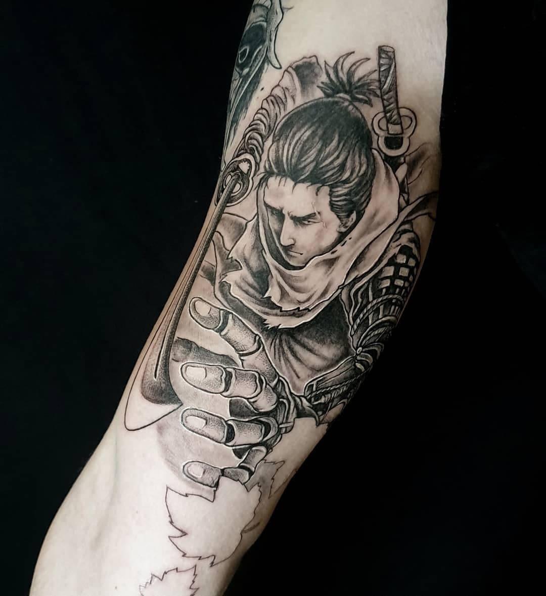 tattoo anansi münchen david samurai