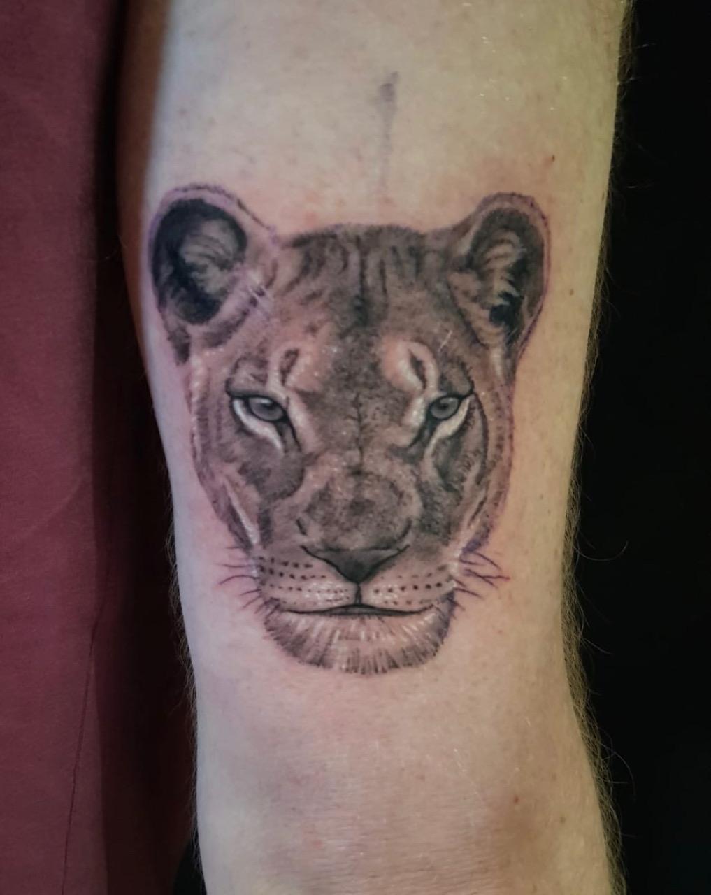 tattoo studio anansi münchen munich minga portrait artist jason black best bestes bester lion