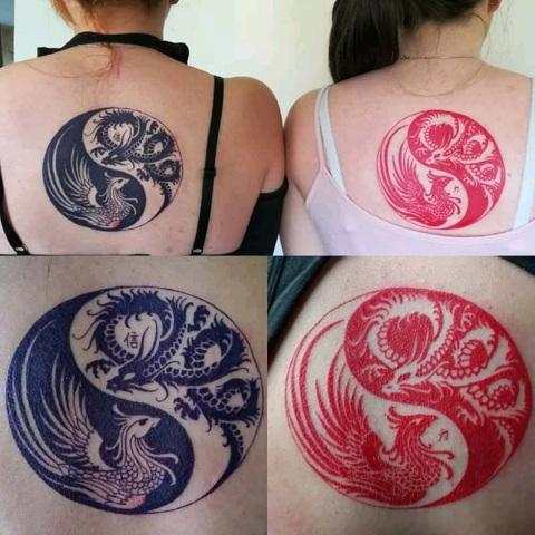 tattoo studio anansi münchen munich melinda asian dragon black red