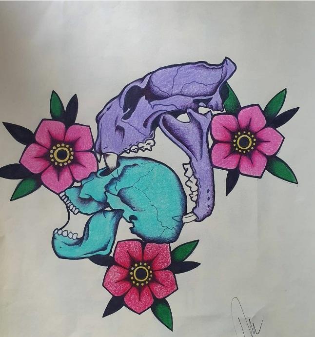 tattoo studio anansi münchen munich melinda traditional farbe